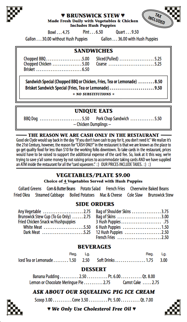Coopers Menu Page 2 Newest 11-9-17