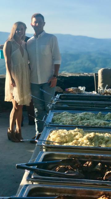 Scotty McCreery Wedding food catering