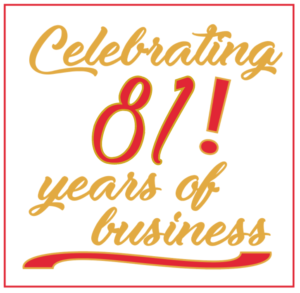 Celebrating 81 years of business