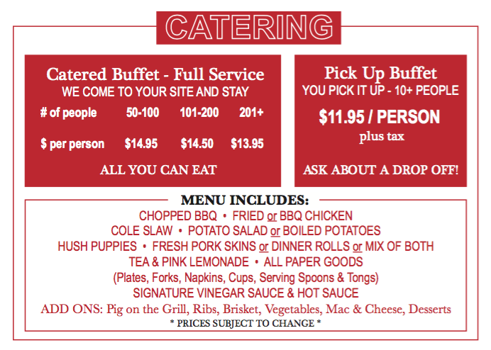 Clyde Cooper's BBQ Catering Menu